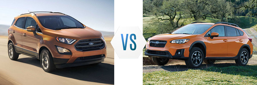 2018 Ford EcoSport vs Subaru Crosstrek