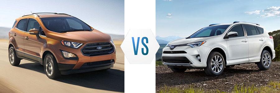 2018 Ford EcoSport vs Toyota RAV4