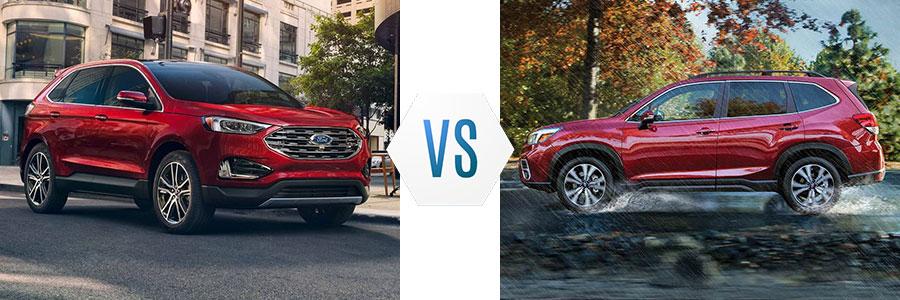 2019 ford edge vs subaru forester