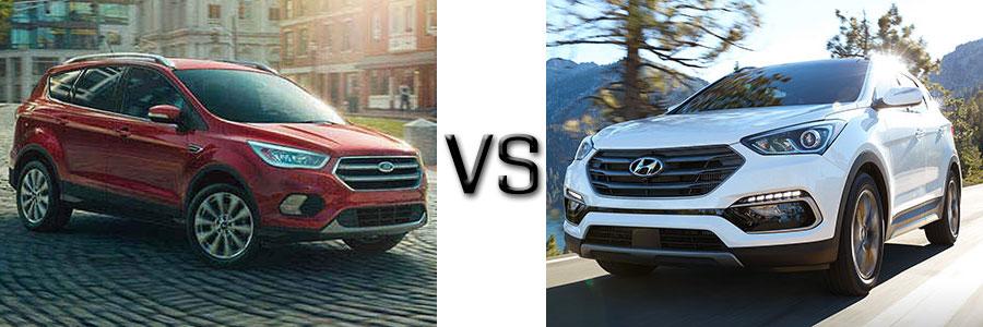 2017 Ford Escape vs Hyundai Santa Fe Sport