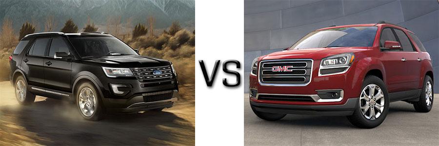 Ford Explorer vs GMC Acacia