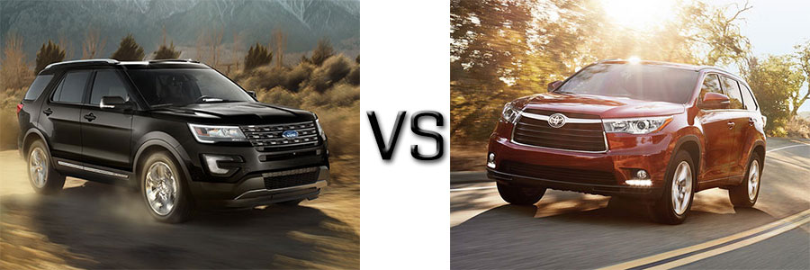 Ford Explorer vs Toyota Highlander