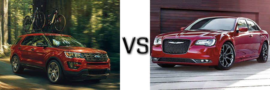 2017 Ford Explorer vs Chrysler 300