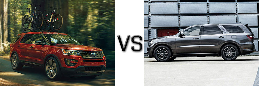 2016 Ford Explorer Towing Capacity >> 2017 Ford Explorer vs Dodge Durango