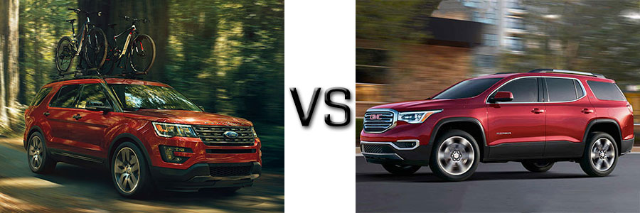 2017 Ford Explorer vs GMC Acadia