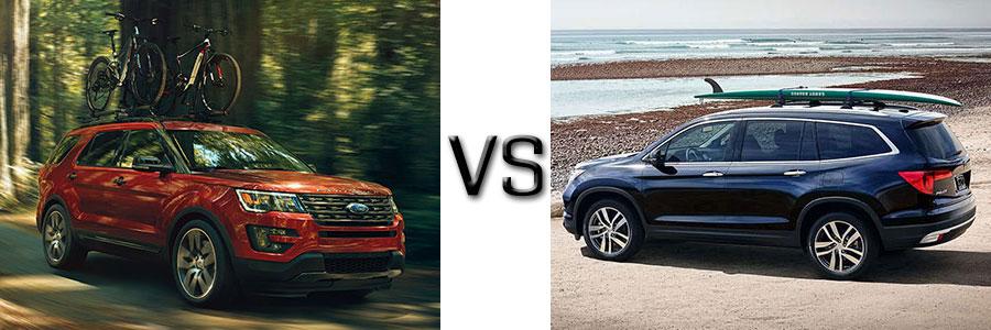 2017 Ford Explorer vs Honda Pilot