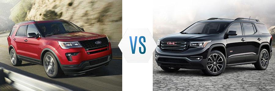 2018 Ford Explorer vs GMC Acadia