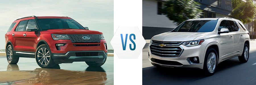 2019 Ford Explorer vs Chevrolet Traverse