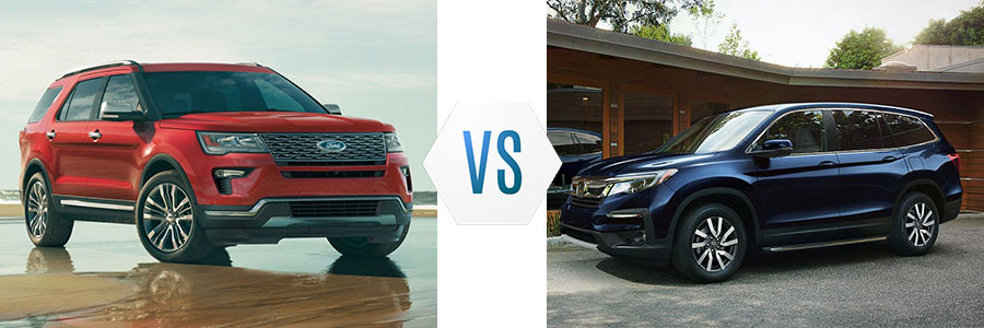 2019 Ford Explorer vs Honda Pilot