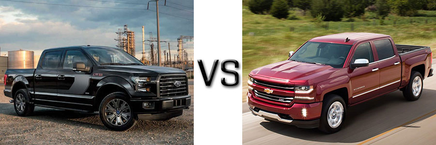 2017 Ford F-150 vs Chevrolet Silverado 1500