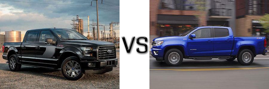 2017 Ford F-150 vs Chevrolet Colorado