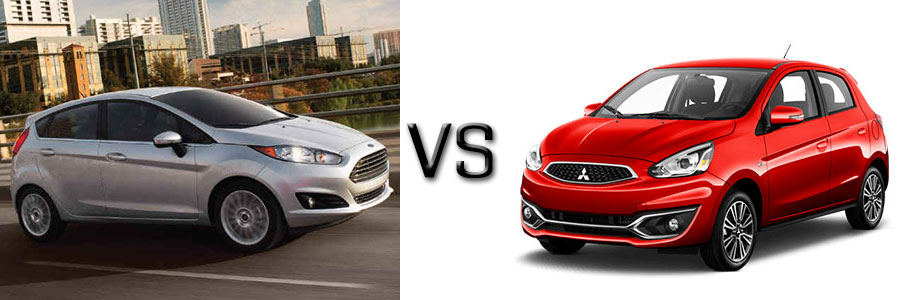 2017 Ford Fiesta vs Mitsubishi Mirage