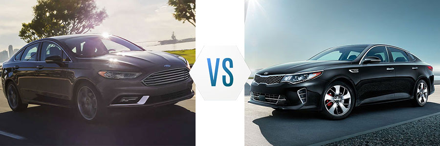 2017 Ford Fusion vs Kia Optima