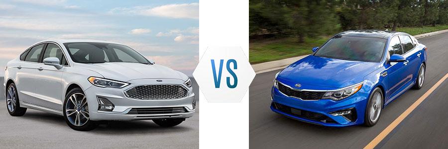 2019 Ford Fusion vs Kia Optima