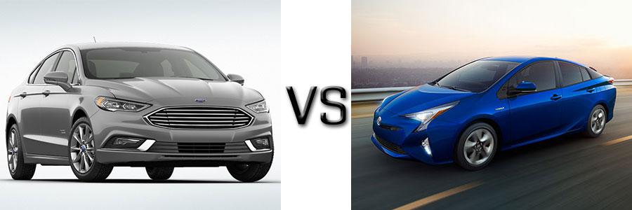 2017 Ford Fusion Energi vs Prius Four & Four Touring