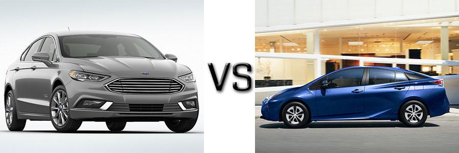 2017 Ford Fusion Energi vs Toyota Prius Two & Two Eco
