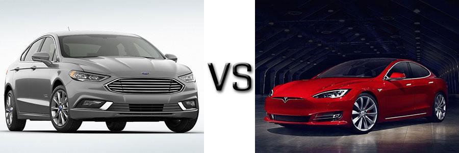 2017 Ford Fusion Energi vs Tesla Model S