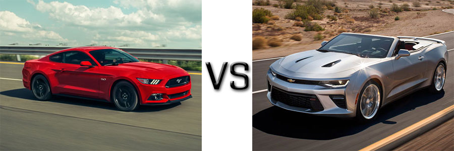 2016 Mustang vs Chevrolet Camaro