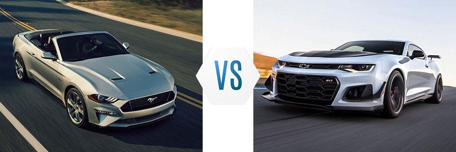 2018 Ford Mustang vs Chevrolet Camaro