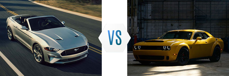 2018 Ford Mustang vs Dodge Challenger