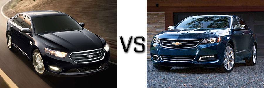 2017 Ford Taurus vs Chevrolet Impala