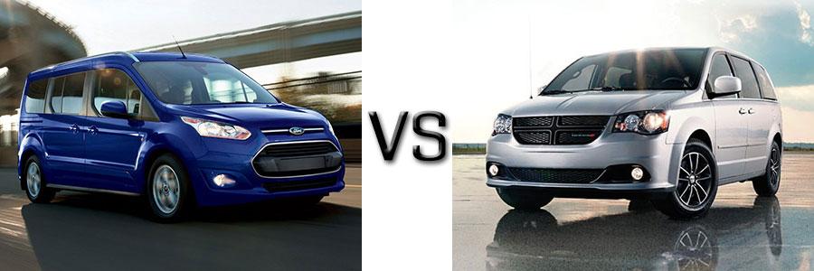 2017 Ford Transit Connect Wagon vs Dodge Grand Caravan