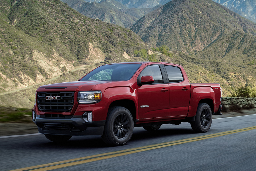2021 GMC Canyon on the Road
