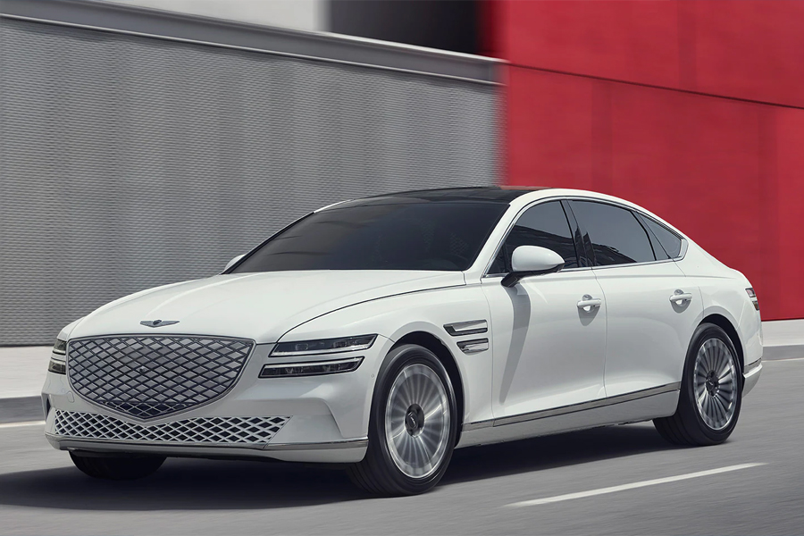 2023 Genesis Electrified G80 on the Road