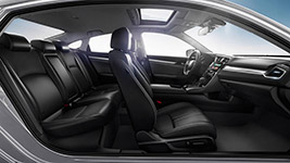 2016 Honda Civic Spacious, Refined Cabin