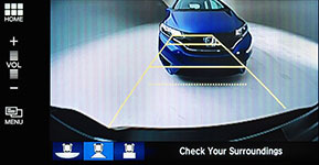 2017 Honda Civic Multi-Angle Rearview Camera