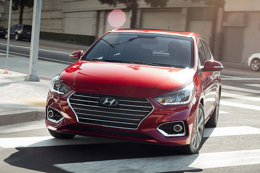 2019 Hyundai Accent on the Road