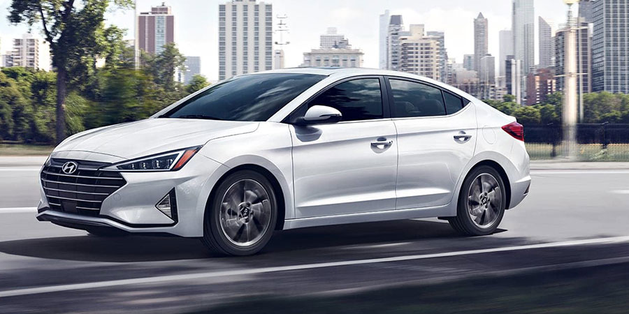 2019 Hyundai Elantra on the Road