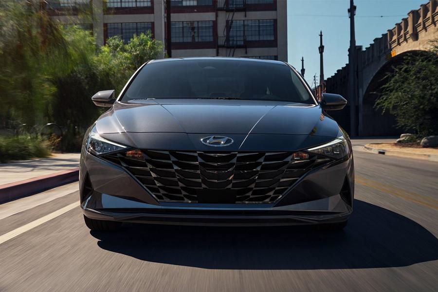 2021 Hyundai Elantra on the Road