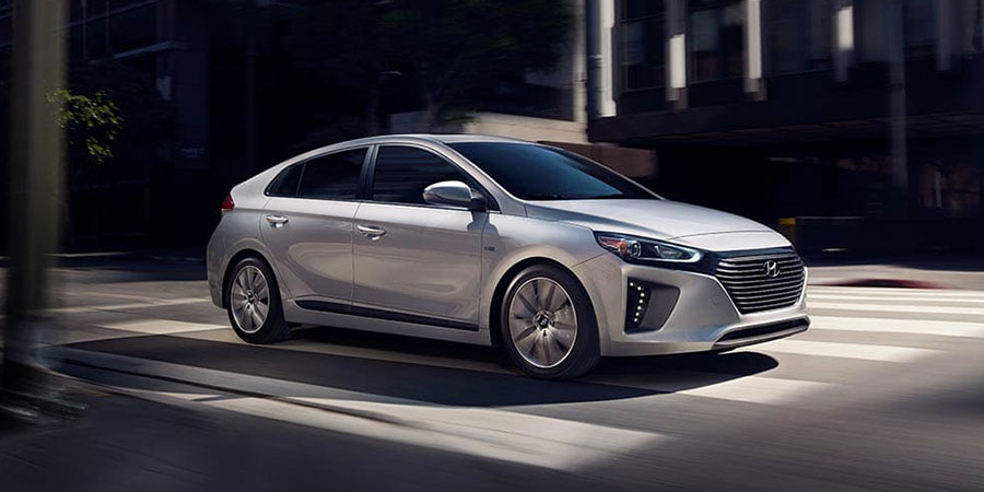 2019 Hyundai Ioniq on the Road