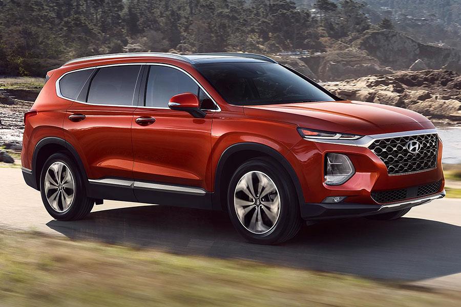 2020 Hyundai Santa Fe on the Road