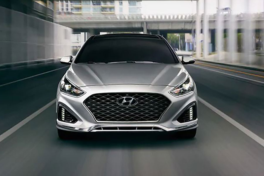 2019 Hyundai Sonata on the Road