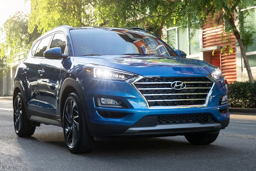 2020 Hyundai Tucson on the Road
