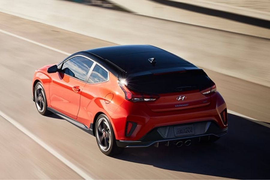 2020 Hyundai Veloster on the Road