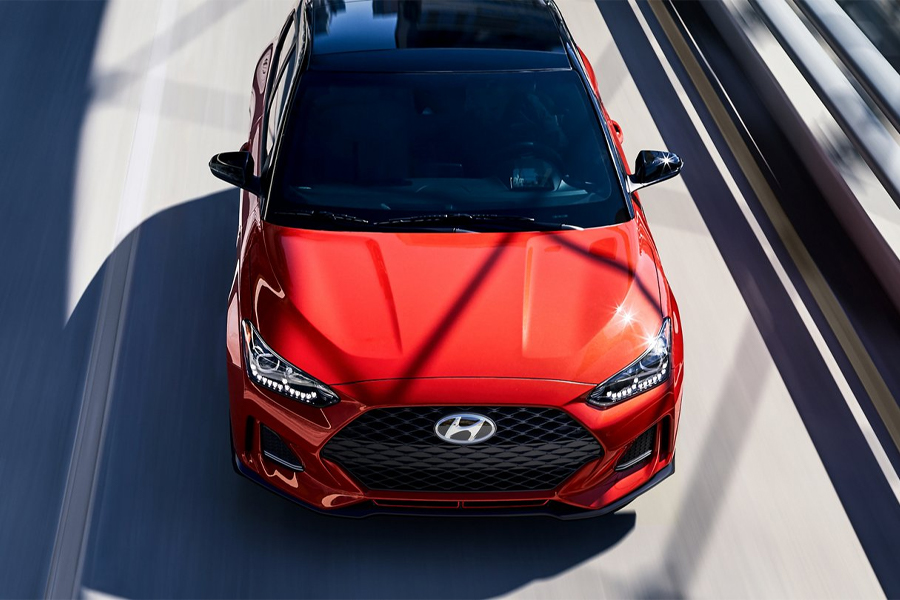 2021 Hyundai Veloster on the Road
