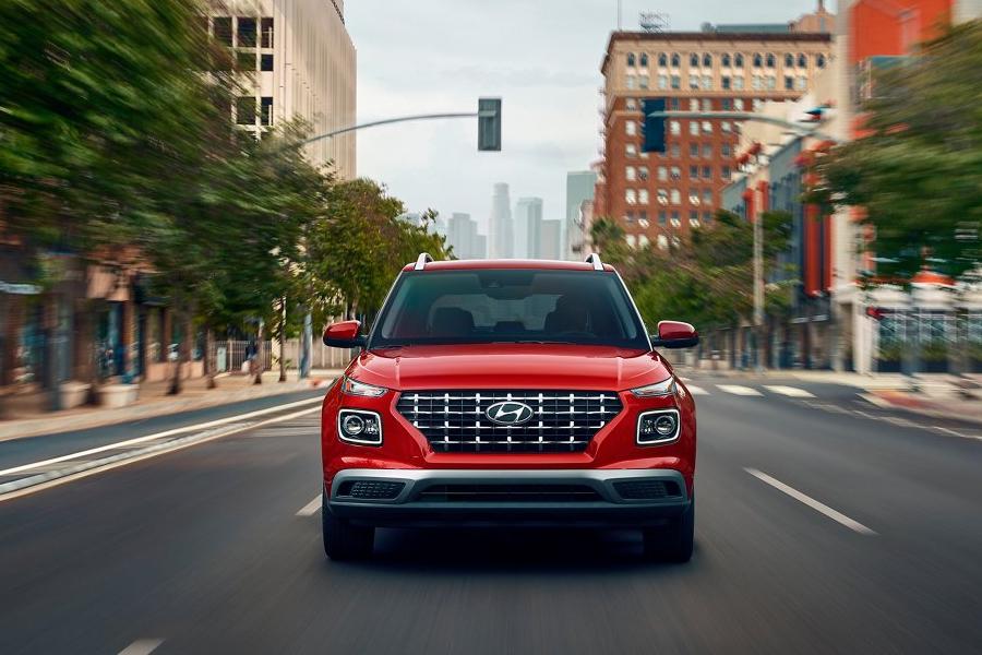 2021 Hyundai Venue on the Road