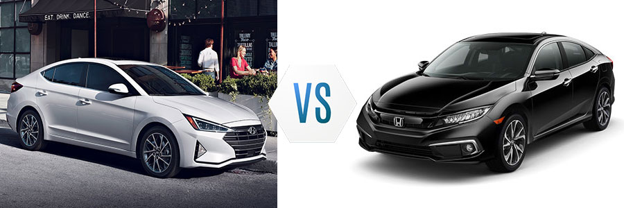 2019 Hyundai Elantra vs Honda Civic