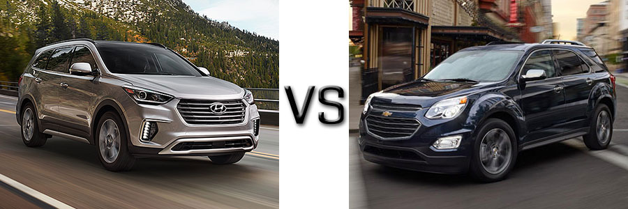 2017 hyundai santa fe vs chevrolet equinox. Black Bedroom Furniture Sets. Home Design Ideas