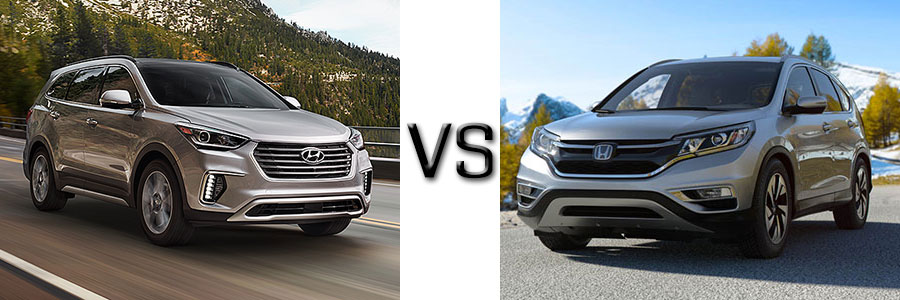 2017 hyundai santa fe vs honda cr v for Hyundai santa fe vs honda crv