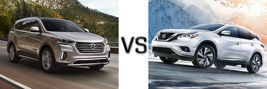 Nissan Rogue Vs Hyundai Santa Fe >> 2017 Hyundai Santa Fe Vs Nissan Murano