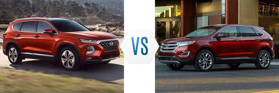 Santa Fe Ford >> 2019 Hyundai Santa Fe Vs 2019 Ford Edge