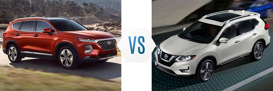 Nissan Rogue Vs Hyundai Santa Fe >> 2019 Hyundai Santa Fe Vs Nissan Rogue