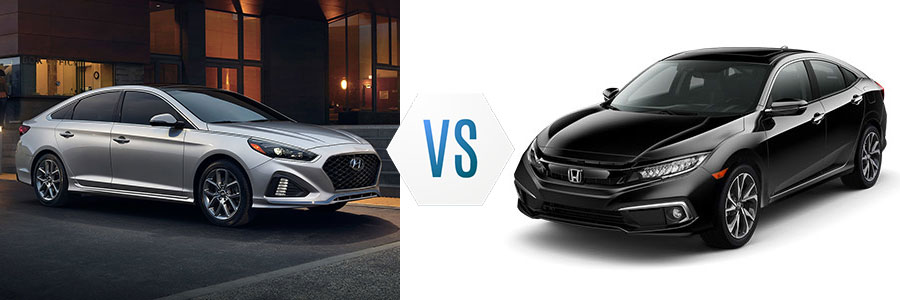 2019 Hyundai Sonata vs Honda Civic