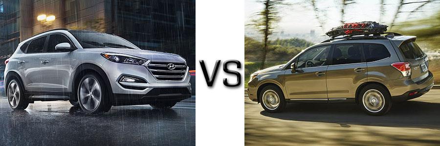 2016 Hyundai Tucson vs Subaru Forester