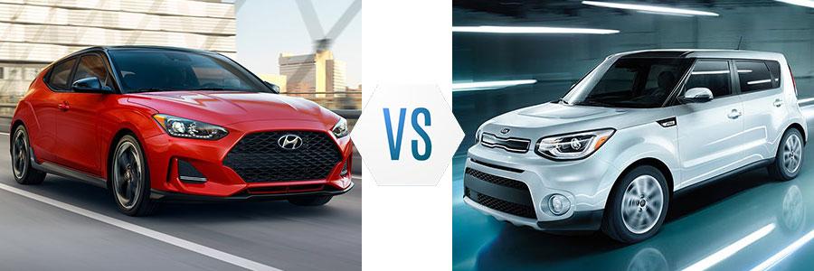 2019 Hyundai Veloster vs Kia Soul