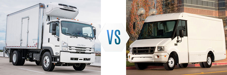 Diesel Box Trucks vs Cargo Vans